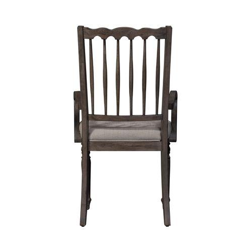 Spindle Back Upholstered Arm Chair (RTA)