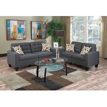 Fabiano 2pc Loveseat & Sofa Set, Blue-grey