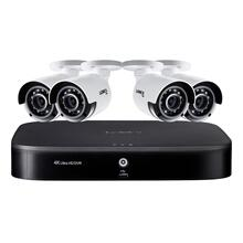 4K Ultra HD 8-Channel Security System with 2 TB DVR and Four 4K Ultra HD Color Night Vision Bullet Cameras with Smart Home Voice Control