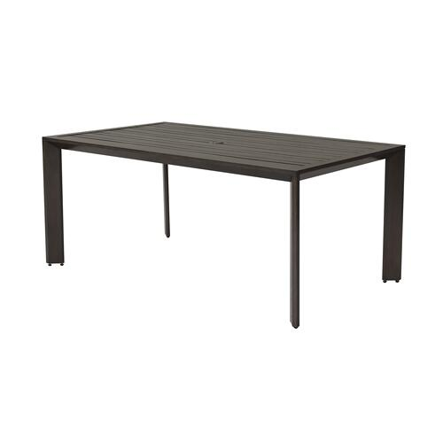 "Bellport 70"" x 41"" Random Slat Rectangular Dining Table w/umbrella hole"""""""