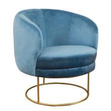 View Product - Bella Blue Velvet Chair