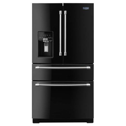 Maytag - 36-inch Wide 4-Door French Door Refrigerator with Steel Shelves - 26 cu. ft.