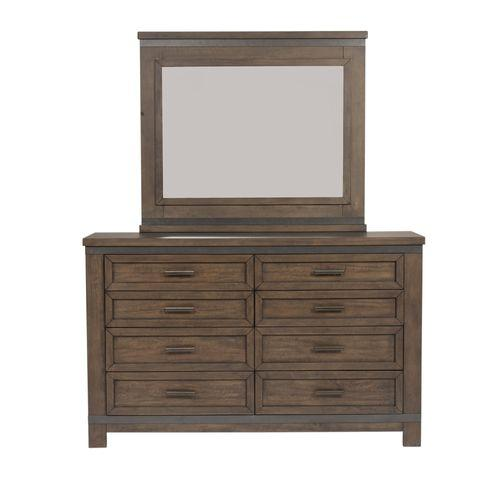 King Two Sided Storage Bed, Dresser & Mirror, Night Stand