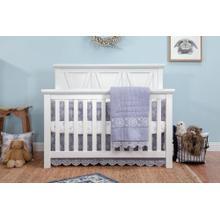 Emory Farmhouse 4-in-1 Convertible Crib in Linen White