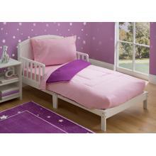 Girls 4-Piece Toddler Bedding Set - Pink\/Purple Gingham (2006)