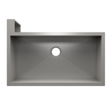 "SocialCorner® 005304 - undermount with apron front stainless steel Kitchen sink , 35"" × 18"" × 10"" Left corner"