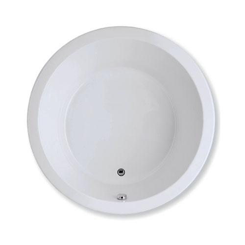 "Easy-Clean High Gloss Acrylic Surface, Circle, Soaking Bathtub, 60"" X 60"""