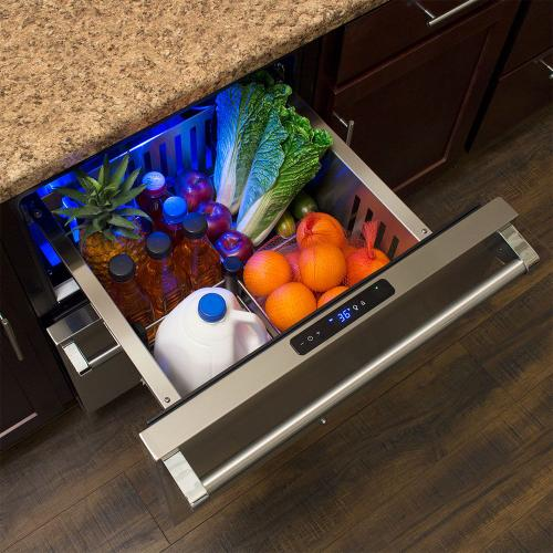 24-In Professional Built-In Refrigerated Drawers with Door Style - Stainless Steel, Door Swing - Field Reversible