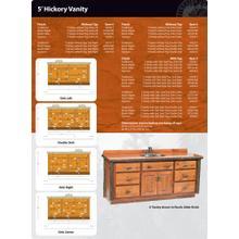 Hickory Vanity - 5'