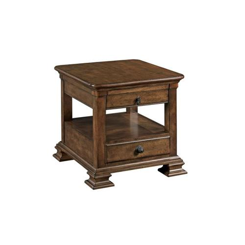 Portolone Rectangular End Table W/drawer
