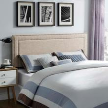 View Product - Jessamine Full Upholstered Fabric Headboard in Beige