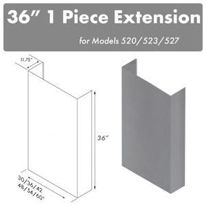 "Zline KitchenZLINE 36"" Chimney for 48"" Under Cabinet Hoods (520/523/527-48-3FTEXT)"