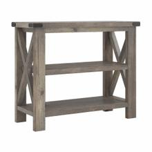 See Details - 36W Narrow Console Table with Shelves - Assembled, Lakewood Gray