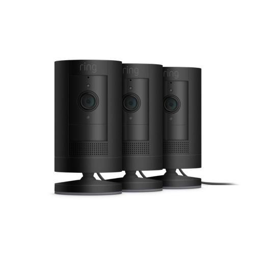 3-Pack Stick Up Cam Plug-In - Black