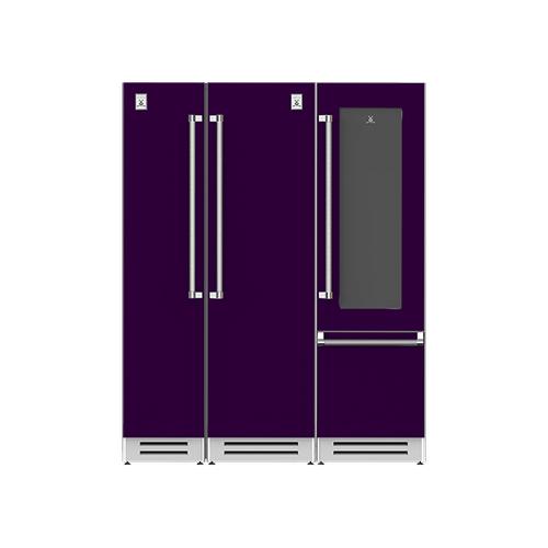 "Hestan - 66"" Column Freezer (L), Refrigerator and Wine Refrigerator ® Ensemble Refrigeration Suite - Lush"