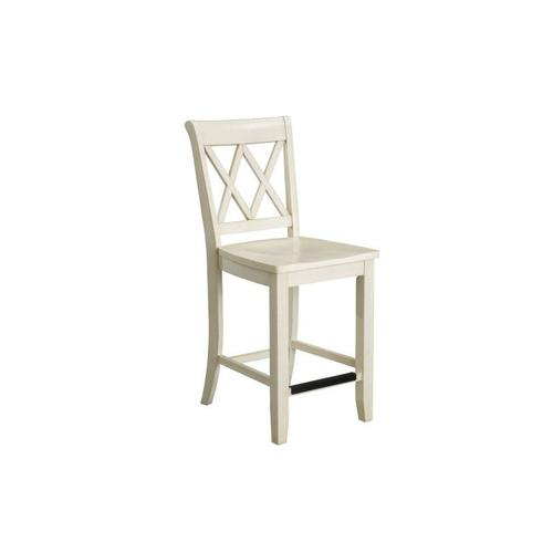 Standard Furniture - Vintage Distressed 2-Pack White Counter Height Stools
