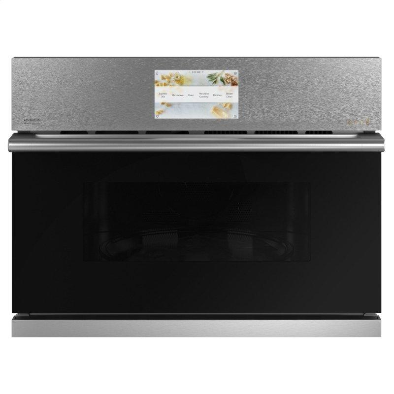 """Café™ 27"""" Smart Five in One Oven with 120V Advantium® Technology in Platinum Glass"""