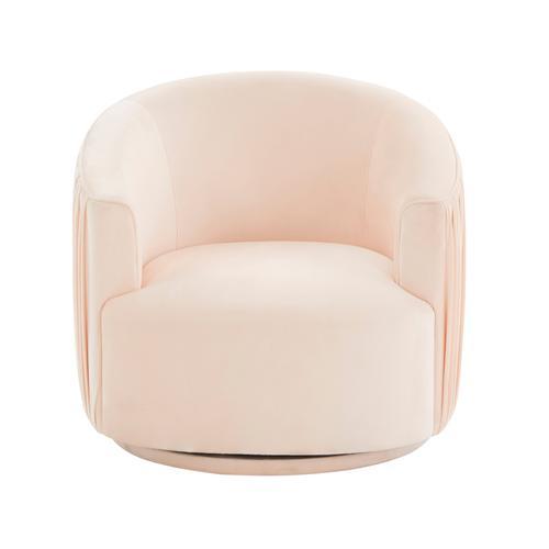 Tov Furniture - London Peche Pleated Swivel Chair