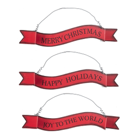 Banner Ornaments - Lg. (6 pc. ppk.)
