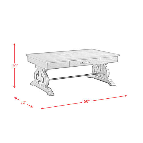 Product Image - Stone Coffee Table w/ PU Base