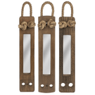 Upcycled Ship Ladder Vertical Mirror with Rope (Each One Will Vary) (3 pc. set) Product Image
