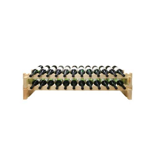 2 x 12 Bottle Modular Wine Rack (Natural)