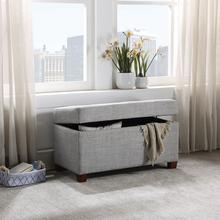 Fabric Storage Ottoman In Dove
