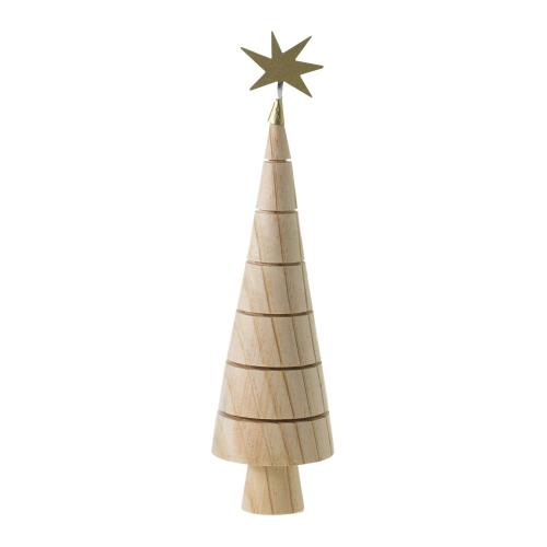 """2.75""""x 10.5"""" Natural Spur Tree Collection (Figurine Option)"""