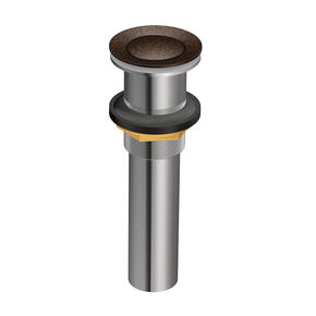 Moen Oil Rubbed Bronze Spring Loaded Push Button Bathroom Drain Assembly (without overflow)