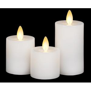 LED Mini Wax Pillar Set (3 pc. set)