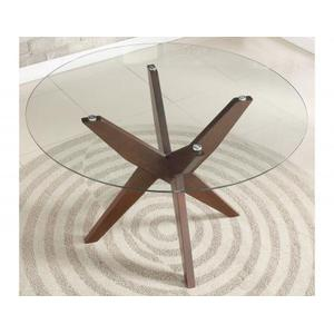 Amalie 48 inch Round Glass Top Table