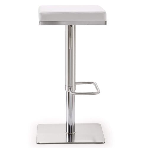 Bari White Stainless Steel Barstool
