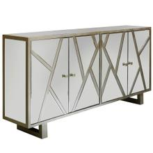 Product Image - WEXFORD SIDEBOARD  Beveled Mirror with Champagne Finish  4 Door