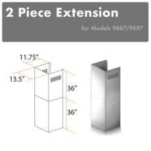 """View Product - ZLINE 2-36"""" Chimney Extensions for 10 ft. to 12 ft. Ceilings (2PCEXT-9667/9697)"""