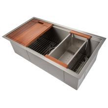 """See Details - ZLINE 33"""" Garmisch Undermount Single Bowl Kitchen Sink with Bottom Grid and Accessories (SLS) [Color: Stainless Steel]"""