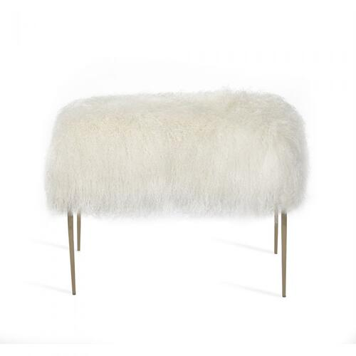 Stiletto Stool - Ivory Sheepskin