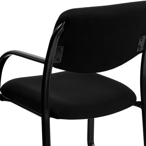 Gallery - Black Fabric Executive Side Reception Chair with Sled Base