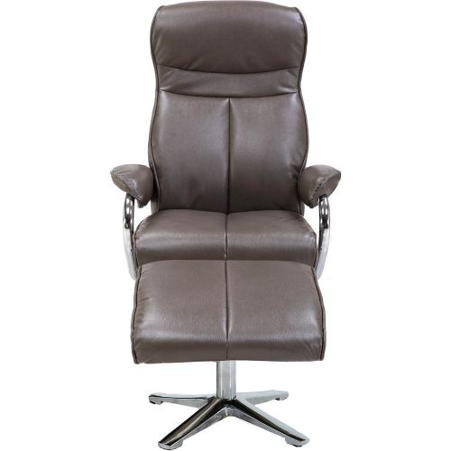 Hanover Paterson Swivel Lounge Chair with Ottoman in Dark Gray, HLC0209