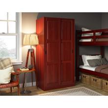 5662 - 100% Solid Wood 2-Sliding Door Wardrobe - Mahogany
