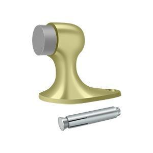 """Floor Door Bumper 2-1/8"""", Solid Brass - Unlacquered Brass"""