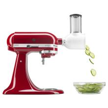 Artisan® Series 5 Quart Tilt-Head Stand Mixer with Fresh Prep Slicer/Shredder Attachment - Empire Red