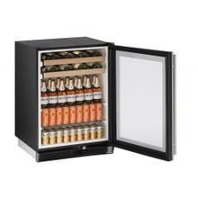"""See Details - OPEN BOX 1000 Series 24"""" Beverage Center With Stainless Frame Finish and Field Reversible Door Door Swing (115 Volts / 60 Hz)"""
