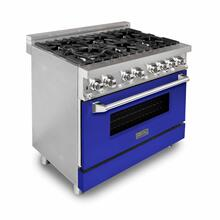 ZLINE 36 in. Professional Dual Fuel Range with Blue Matte Door (RA-BM-36)