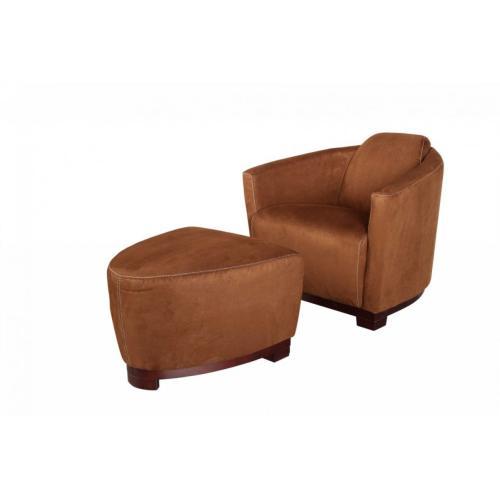Divani Casa Hotel Brown Fabric Lounge Chair