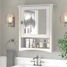 Salinas Bathroom Bathroom Medicine Cabinet with Mirror - Linen White Oak