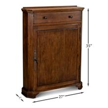 Dante Hall Cabinet, Fruitwood