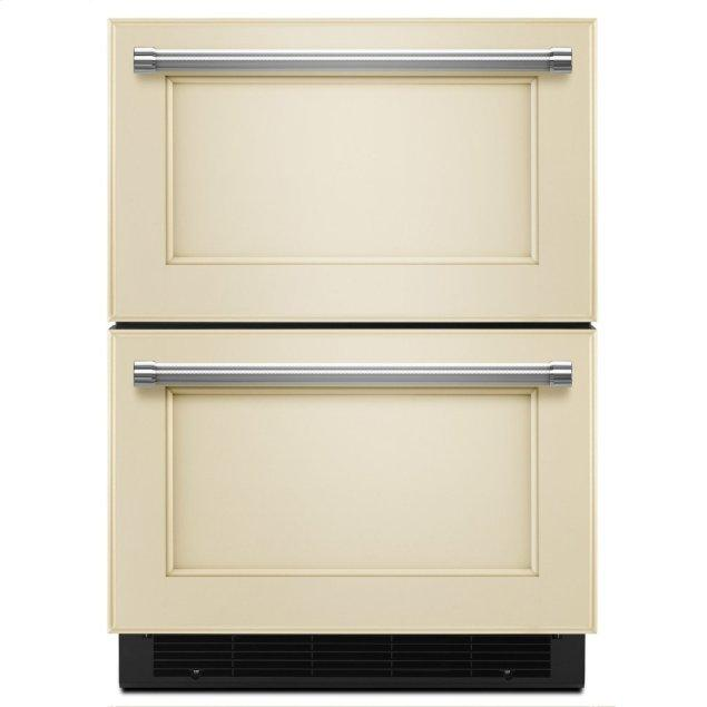 "Kitchenaid 24"" Panel Ready Double Refrigerator Drawer - Panel Ready PA"