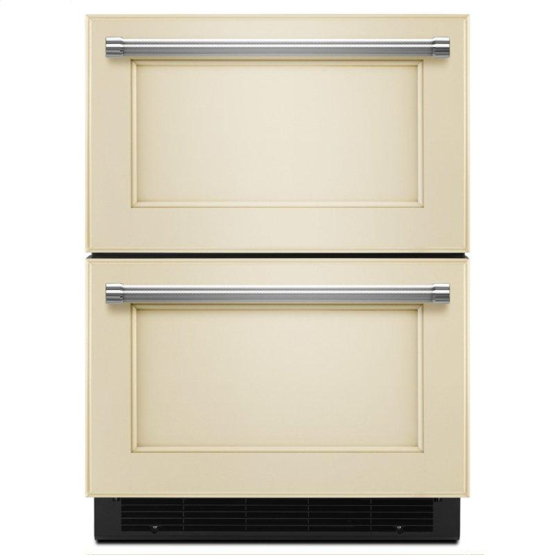 """24"""" Panel Ready Double Refrigerator Drawer - Panel Ready PA"""