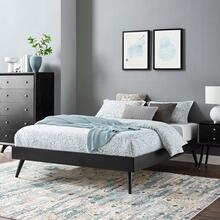 Margo Queen Wood Platform Bed Frame in Black