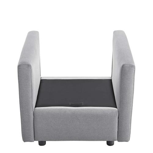 Activate Upholstered Fabric Armchair in Light Gray